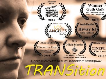 TRANSition poster with laurels